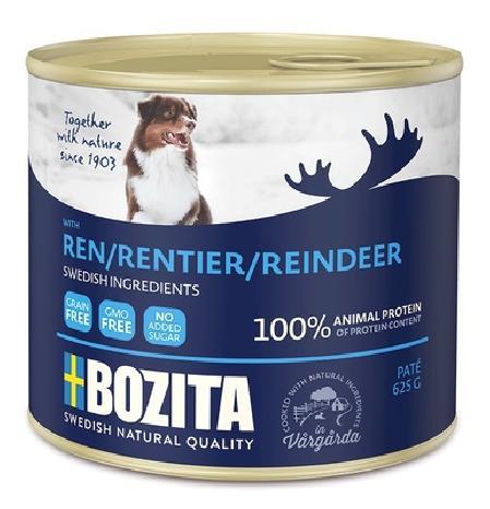 Bozita Мясной паштет  для собак с оленем, 0,625 кг