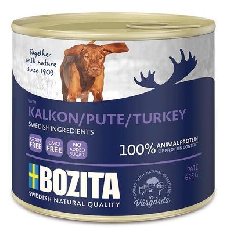 Bozita Мясной паштет  для собак с индейкой, 0,625 кг