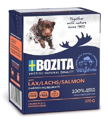 Bozita Кусочки в желе для собак с лососем, 0,370 кг