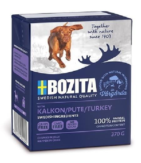 Bozita Кусочки в желе для собак с индейкой, 0,370 кг