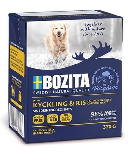 Bozita Кусочки в желе для собак с курицей и рисом, 0,370 кг