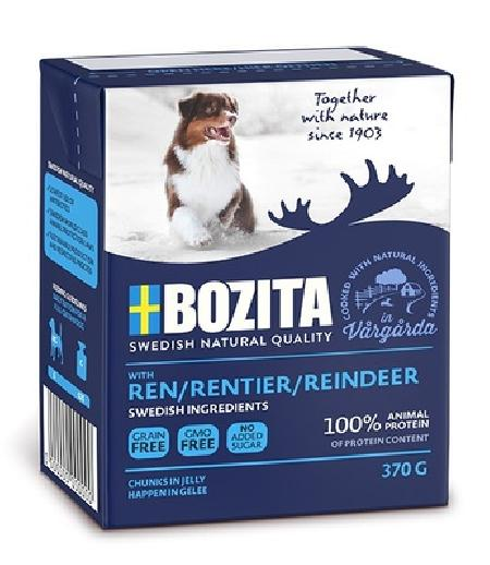 Bozita Кусочки в желе для собак с олениной, 0,370 кг