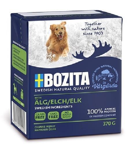 Bozita Кусочки в желе для собак с мясом лося, 0,370 кг