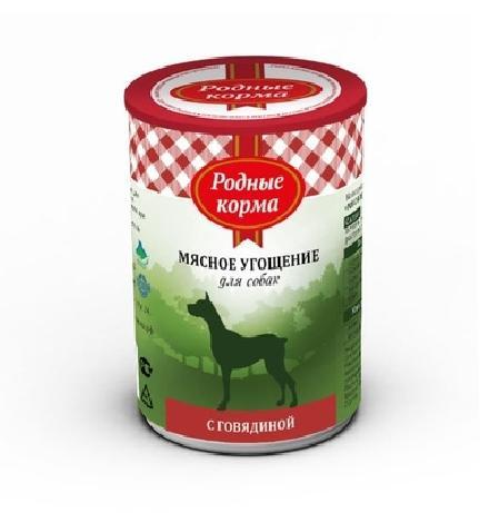 Родные Корма Мясное угощение влажный корм для взрослых кошек всех пород, с птицей 340 гр