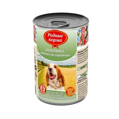 Родные Корма влажный корм для взрослых собак всех пород, Елец скоблянка мясная по городецки 410 гр