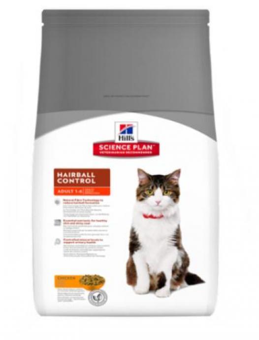 Hill s Science Plan ВИА см арт 38233 Для кошек вывод шерсти индейка и курица (Hairball) 8000M, 5 кг, 21169
