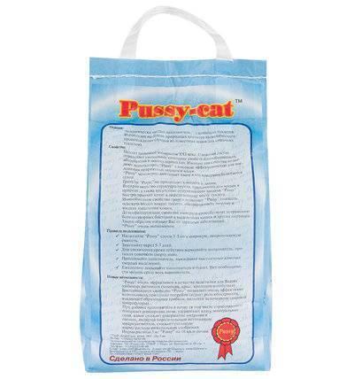 Pussy-Cat Впитывающий наполнитель, цеолитовый, 4,5л (Синий пакет), 2,800 кг