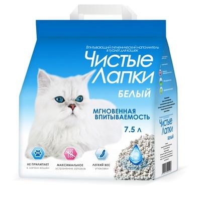 Чистые лапки Clean paws впитывающий наполнитель для кошек 7,5 л