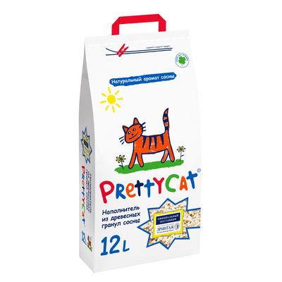 Pretty Cat ВИА см арт 48869 Древесный наполнитель на 110л (Wood Granules), 23,000 кг, 26158