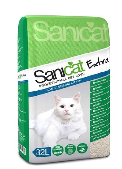 Sani Cat ВИА Впитывающий наполнитель без аромата (Extra 32L) PSANEXTR032L31, 22,080 кг, 20957
