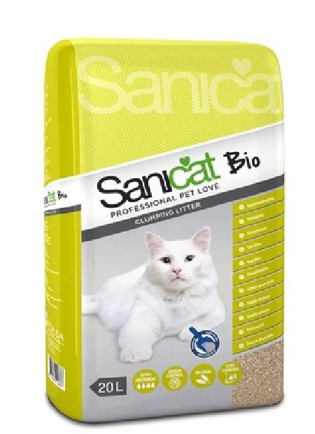 Sani Cat ВИА Комкующийся наполнитель без аромата (Bio 20L) PSANBIO0020L31, 21,000 кг, 20968