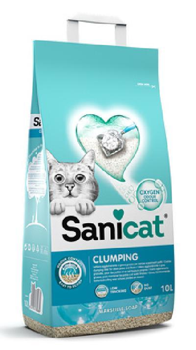 Sanicat наполнитель комкующийся с активным кислородом 10 л