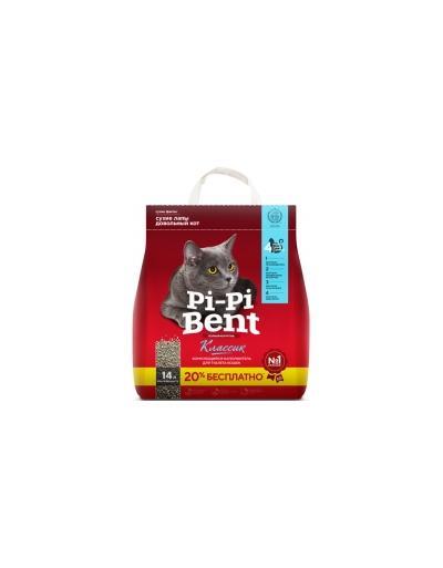 Pi Pi Bent **Пи-Пи-Бент Классик Наполнитель комкующийся 5кг + 1кг бесплатно