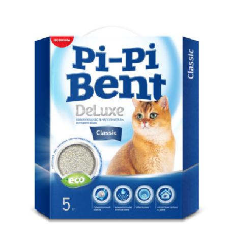 Pi-Pi-Bent Комкующийся наполнитель Делюкс Классик (коробка), 5,000 кг