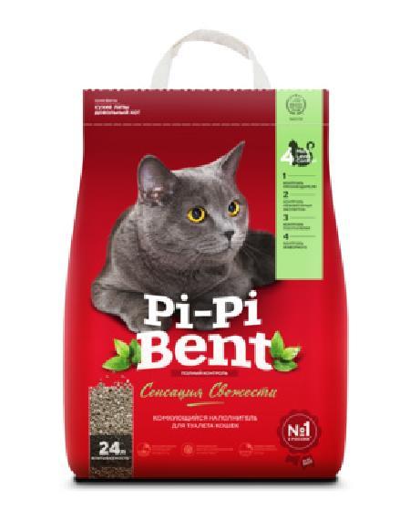 Pi-Pi-Bent Комкующийся наполнитель Сенсация свежести (пакет), 10,000 кг