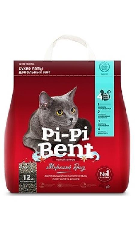 Pi-Pi-Bent Комкующийся наполнитель Морской бриз (пакет), 5,000 кг