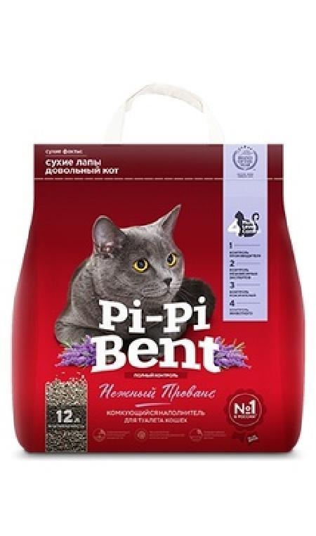 Pi-Pi-Bent Комкующийся наполнитель Нежный Прованс (пакет), 5,000 кг