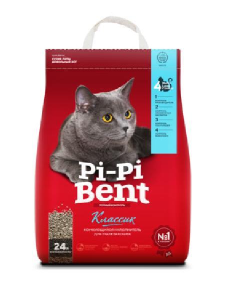 Pi-Pi-Bent Комкующийся наполнитель Классик (пакет), 5,000 кг