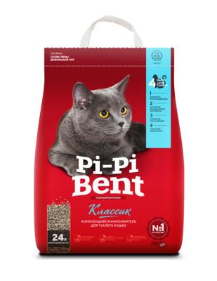 Pi-Pi-Bent Акция 10+2 в подарок Комкующийся наполнитель Классик (пакет), 12,000 кг