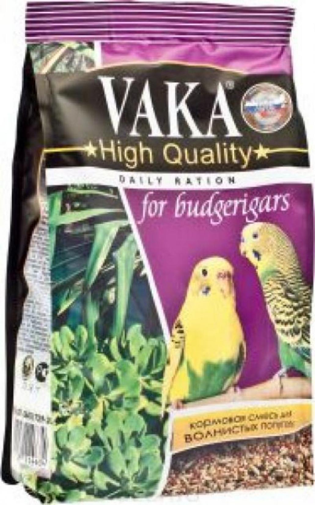 Вака High Quality корм дволнистых попугаев 500 гр, 1000100471