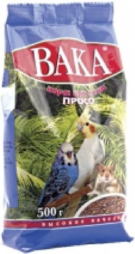 Вака ВК корм для птиц, просо 500 гр, 1800100471