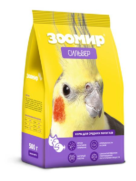 ЗООМИР Корм для средних попугаев Сильвер, 5,000 кг
