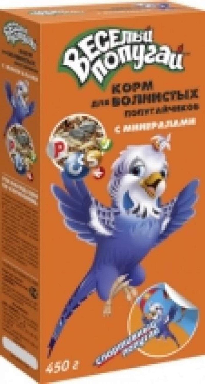 ЗООМИР Веселый попугай корм дволнистых попугаев с минералами 450гр 661