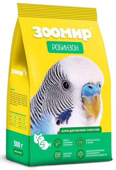 ЗООМИР Корм для мелких попугаев  Робинзон 635, 0,500 кг