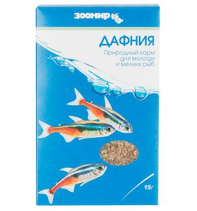 ЗООМИР Дафния для рыб, рептилий, земноводных, птиц, коробка 523, 0,015 кг
