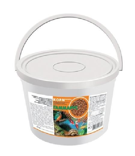 ЗООМИР Гаммарус для рыб, рептилий, земноводных, птиц, пластиковый контейнер 1л 172, 0,110 кг