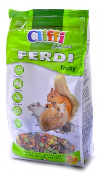 Cliffi (Италия) Корм для хомяков, мышей, белок и песчанок с фруктами, грецкими орехами и морковью (Ferdi Fruity SELECTION) PCRA040, 0,700 кг, 34062, 3200100479
