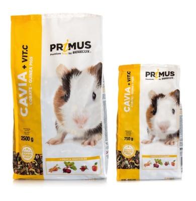 Benelux корма Корм для морских свинок с Витамином С Премиум (Primus cavie + vit c. Premium) 32512 (PRIMUS CAVIA 2500G) 32512, 2,500 кг
