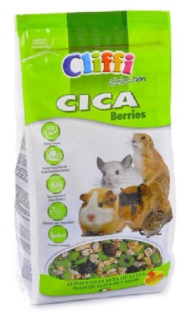 Cliffi (Италия) Корм для морских свинок, шиншилл, дегу и луговых собачек (CICA berries SELECTION) PCRA039, 0,800 кг