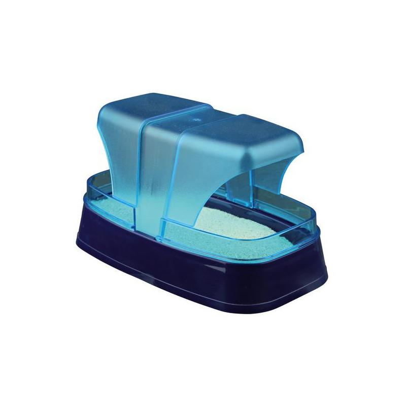 ТРИКСИ 63001 купалка для хомяков и мышей 17*10*10 см пластик темно-синийбирюзовый