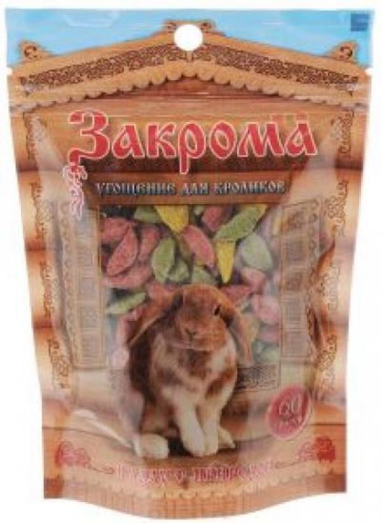 Кролики лакомство 60гр Закрома 112