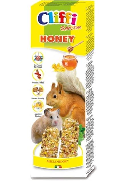 Cliffi (снят с производства) Лакомство для Хомяков и белок: палочки с медом (Sticks hamsters and squirrels with honey) PCRA220, 0,11 кг, 31320