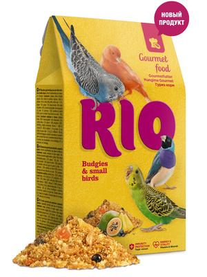 Рио Гурмэ корм для волнистых попугайчиков и других мелких птиц, 0,250 кг