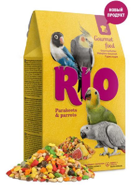 Рио Гурмэ корм для средних и крупных попугаев, 0,250 кг