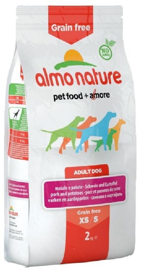 Almo Nature ВИА Беззерновой корм с  Лососем и Картофелем для Собак карликовых и мелких пород (HOLISTIC GRAIN FREE DOGS XS-S SALMON AND POTATOES) 771, 0,4 кг, 47630