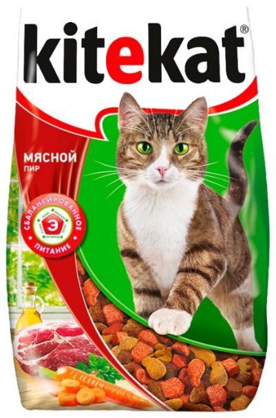 Kitekat Сухой корм для кошек мясной пир, 0,1 кг
