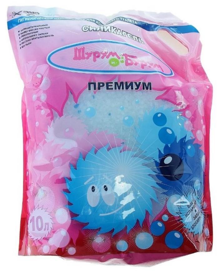 Шурум-Бурум Премиум наполнитель силикагелевый 10 л синий