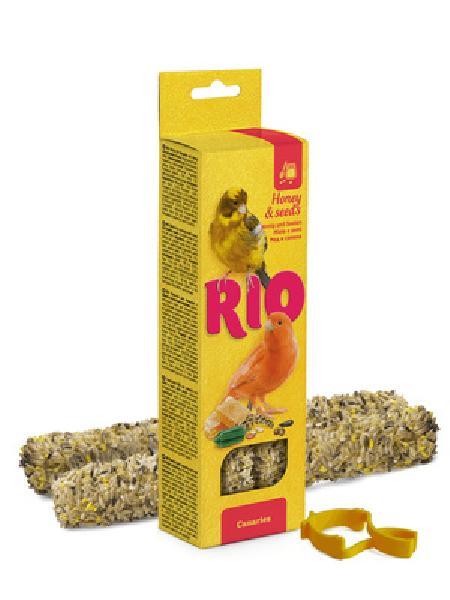 Rio палочки для канареек, с медом и полезными семенами 80 гр