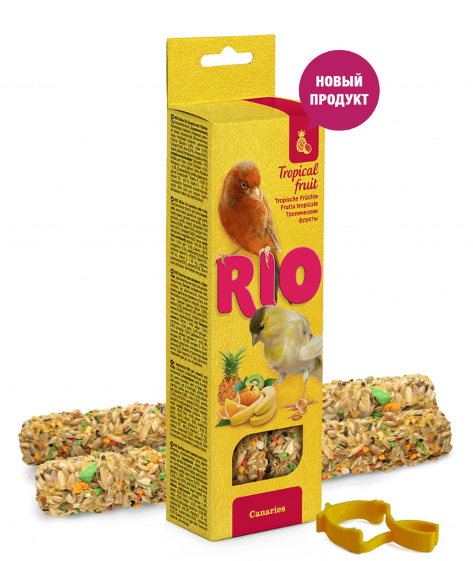 RIO палочки для канареек с тропическими фруктами коробка 2*40г