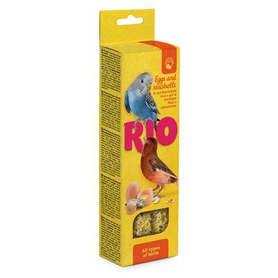 Rio палочки для всех видов птиц, с яйцом и ракушечником 2*40 г
