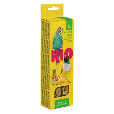 Rio палочки для волнистых попугайчиков и экзотов, с тропическими фруктами 2*40 г