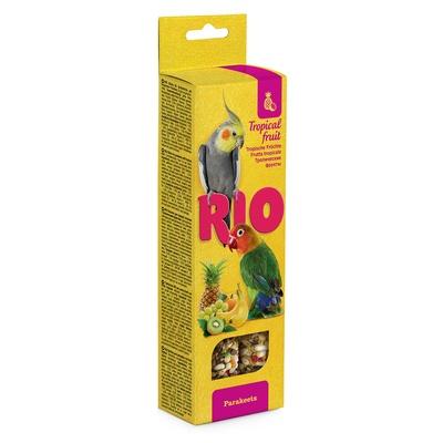 Rio палочки для средних попугайчиков, с тропическими фруктами 2*40 г