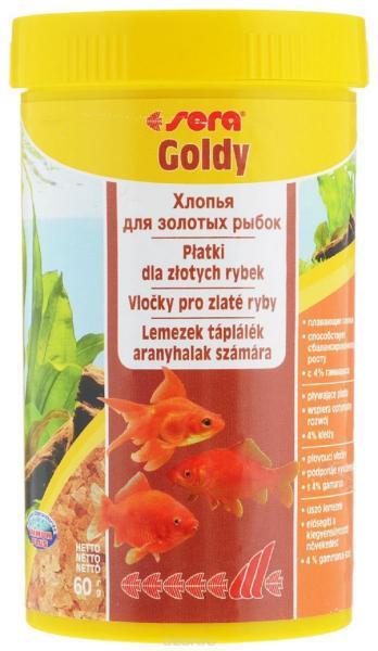 Sera корм для золотых рыб, хлопья 250 мл
