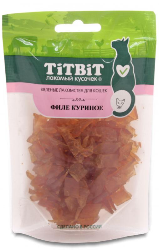 TITBIT дк вяленые лакомства филе куриное 50 гр 19405