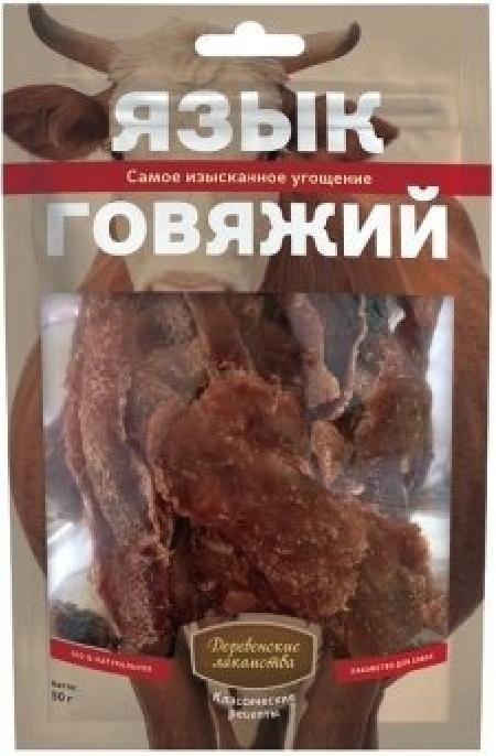 Деревенские Лакомства Язык говяжий лакомство для собак 50 гр