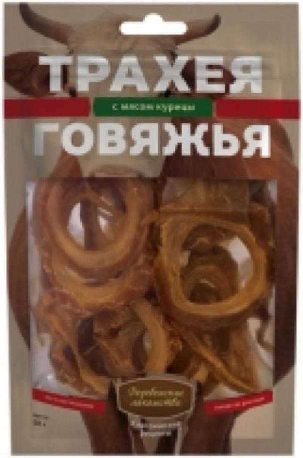 Деревенские Лакомства Трахея говяжья с мясом курицы лакомство для собак 52 гр